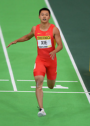 Xie Zhenye of China competes in the men's 60 metres heats during day two of the IAAF World Indoor Championships at Oregon Convention Center in Portland, Oregon, the United States, on March 18, 2016. EXPA Pictures © 2016, PhotoCredit: EXPA/ Photoshot/ Yin Bogu<br /> <br /> *****ATTENTION - for AUT, SLO, CRO, SRB, BIH, MAZ, SUI only*****