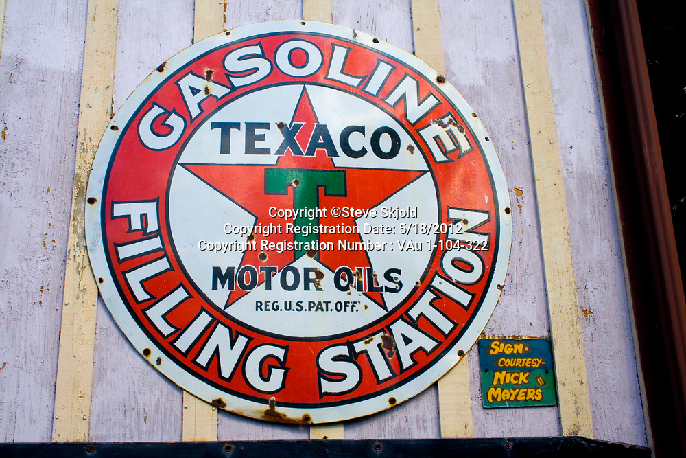 Texaco star logo for gasoline filling stations. Minnesota State Fair St Paul Minnesota MN USA