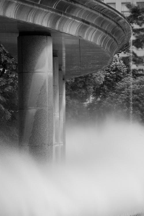 Asia, Tokyo, Japan, Wadakura Fountain Park in park near Imperial Palace near Otemon Gate
