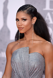 Vick Hope attending the Brit Awards 2019 at the O2 Arena, London. Photo credit should read: Doug Peters/EMPICS. EDITORIAL USE ONLY