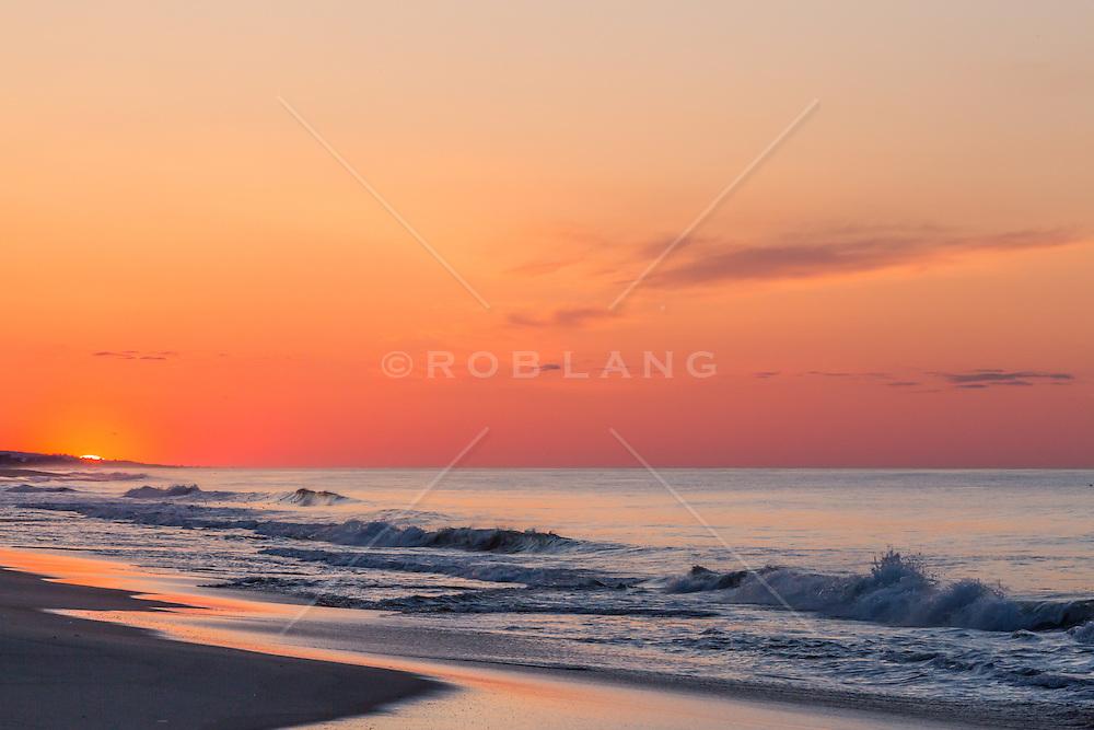 Sunrise over the Atlantic Ocean in Montauk, NY