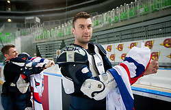 Sabahudin Kovacevic during first practice session of Slovenian National Ice Hockey team in Arena Stozice before 2012 IIHF World Championship DIV I Group A in Slovenia, on April 13, 2012, in Arena Stozice, Ljubljana, Slovenia. (Photo by Vid Ponikvar / Sportida.com)