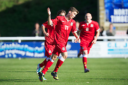BANGOR, WALES - Thursday, August 30, 2012: Wales' Harry Wilson in action against Poland during the International Friendly Under-16's match at the Nantporth Stadium. (Pic by David Rawcliffe/Propaganda)