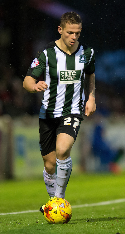 Craig Tanner of Plymouth Argyle during the Sky Bet League 2 match at Bootham Crescent, York<br /> Picture by Russell Hart/Focus Images Ltd 07791 688 420<br /> 14/11/2015