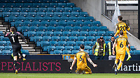 Football - 2018 / 2019 Emirates FA Cup - Sixth Round, Quarter Final : Millwall vs. Brighton<br /> <br /> Brighton players including goalscorer Solly March (Brighton & Hove Albion) celebrate after he scores a last second equaliser for his team at The Den.<br /> <br /> COLORSPORT/DANIEL BEARHAM