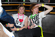 Two boys with day-glo accessories, Klaxons gig, February 2007