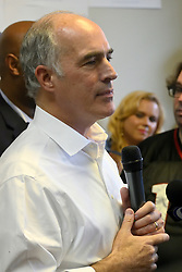 U.S. Sen. Bob Casey (D-PA) speaks at a canvass kick-off event in support of his re-election campaign at a field office in North Philadelphia, PA, on September 23, 2018.