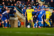 Adam Roscrow of AFC Wimbledon in action during the EFL Sky Bet League 1 match between Gillingham and AFC Wimbledon at the MEMS Priestfield Stadium, Gillingham, England on 29 February 2020.