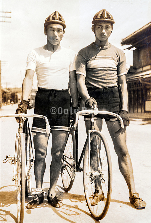 two sports cyclist Japan ca 1930s