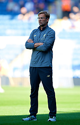 LEICESTER, ENGLAND - Saturday, September 1, 2018: Liverpool's manager Jürgen Klopp during the pre-match warm-up before the FA Premier League match between Leicester City and Liverpool at the King Power Stadium. (Pic by David Rawcliffe/Propaganda)