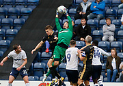 Chris Maxwell of Preston North End catches a cross during the EFL Sky Bet Championship match between Preston North End and Millwall at Deepdale, Preston, England on 23 September 2017. Photo by Paul Thompson.