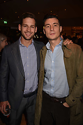 Left to right, Max Emerson and Anthony Watson at the launch of Fiume at Battersea Power Station, Battersea, London England. 16 November 2017.<br /> Photo by Dominic O'Neill/SilverHub 0203 174 1069 sales@silverhubmedia.com