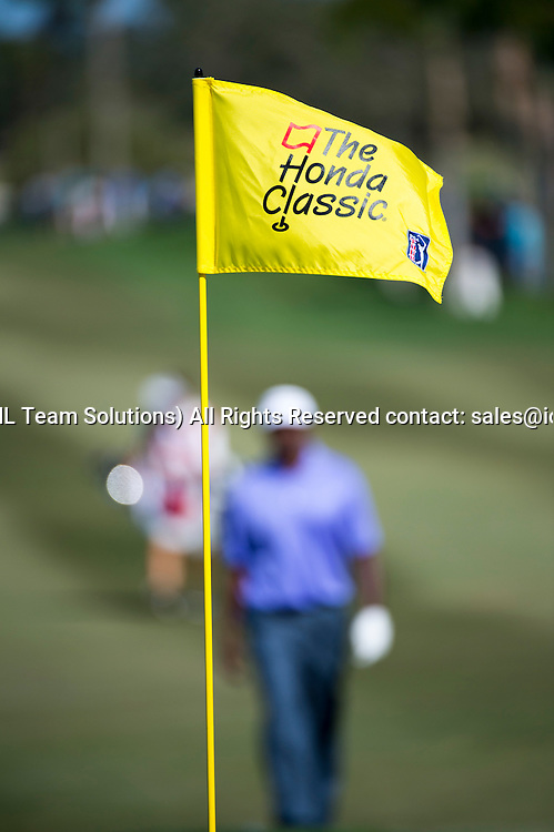 27 February 2016: The Honda Classic flag flies on the course  during the third round of the Honda Classic at the PGA National Resort & Spa in Palm Beach Gardens, FL.