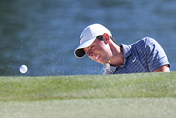 May 2, 2019 - Charlotte, NC, U.S. - CHARLOTTE, NC - MAY 02: Rory McIlroy hits up to the 14th green during the first round of the Wells Fargo Championship at Quail Hollow on May 2, 2019 in Charlotte, NC. (Photo by William Howard/Icon Sportswire) (Credit Image: © William Howard/Icon SMI via ZUMA Press)