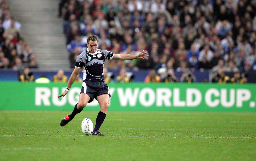 Dan Parks of Scotland. Argentina v Scotland (19 - 13) Stade de France, St Dennis, 07/10/2007, Quarter Final Match 44. Rugby World Cup 2007..