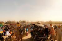 Market scene near the ancient city of Fayum, Egypt.