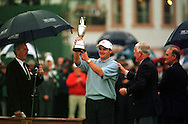 PAUL LAWRIE WITH THE OPEN CHAMPIONSHIP TROPHY 1999<br /><br />AT CARNOUSTIE <br /><br />ON 18TH JULY 1999