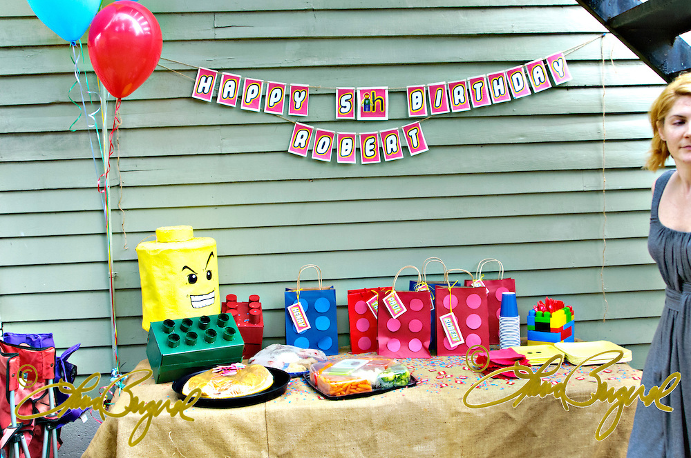 Birthday party for a five year old