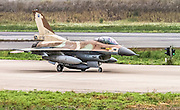 Israeli Air Force (IAF) F-16C (Barak) Fighter jet at take off