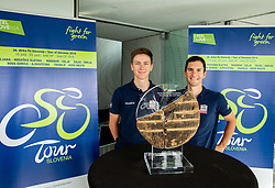 Tadej Pogacar and Jan Polanc during press conference of cycling race Tour od Slovenia 2019 1 day before the competition, on June 18, 2019 in Ljubljana's castle, Ljubljana, Slovenia. Photo by Vid Ponikvar / Sportida