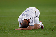 SYDNEY, AUSTRALIA - JULY 20: Leeds United midfielder Kemar Roofe (7) goes down during the club friendly football match between Leeds United and Western Sydney Wanderers FC on July 20, 2019 at Bankwest Stadium in Sydney, Australia. (Photo by Speed Media/Icon Sportswire)