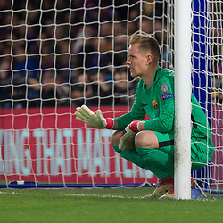 Marc-Andre ter Stegen of Barcelona during the Champions League match between Chelsea and Brcelona at Stamford Bridge, London on Tuesday 20th February 2018.  (C) Steven Morris | SportPix.org.uk