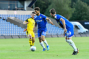 Tyler Roberts (11) of Leeds United on the attack during the Pre-Season Friendly match between Oxford United and Leeds United at the Kassam Stadium, Oxford, England on 24 July 2018. Picture by Graham Hunt.