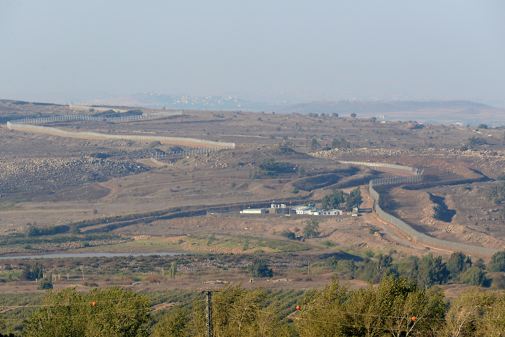 GOLAN HEIGHTS, UNSPECIFIED - AUGUST 30: The Israel- Syria border as seen from the Israeli side on August 30, 2013 in the Israeli-annexed Golan Heights. Tensions is rising in Israel amid talks of a military intervention In Syria. Photo by Gili Yaari