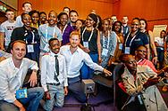 AMSTERDAM - De Britse Prins Harry voorafgaand aan Aids2018 in de Rai. Van 23 tot en met 27 juli komen duizenden aidsexperts, activisten, wetenschappers, beleidsmakers en politici bijeen voor de internationale aidsconferentie AIDS 2018. ROBIN UTRECHT <br /> prince harry