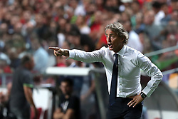 September 10, 2018 - Lisbon, Portugal - Italy's head coach Roberto Mancini during the UEFA Nations League A group 3 football match Portugal vs Italy at the Luz stadium in Lisbon, Portugal on September 10, 2018. (Credit Image: © Pedro Fiuza/ZUMA Wire)