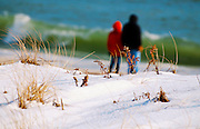 Winter beach scene at Robert Moses State Park