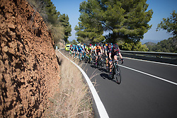 With one kilometer to go to the KOM point, Alena Amialiusik (BLR) of CANYON//SRAM Racing leads the front group on Stage 3 of the Setmana Ciclista Valenciana - a 137 km road race, between Sagunt and Valencia on February 24, 2018, in Valencia, Spain. (Photo by Balint Hamvas/Velofocus.com)