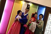 Daegu/South Korea, Republic Korea, KOR, 05.09.2010: Traditional Korean wedding in the South Korean city of Daegu.