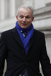 © Licensed to London News Pictures. 08/01/2018. London, UK. David Liddington arrives at Downing Street as a cabinet reshuffle takes place. A number of senior moves are expected ahead of a new phase in Brexit negotiations and following the recent resignation of First Secretary Damian Green. Photo credit: Peter Macdiarmid/LNP