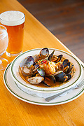 Bouillabaisse with fresh mussels, clams, prawns and halibut at Baldwin Saloon in The Dalles Oregon