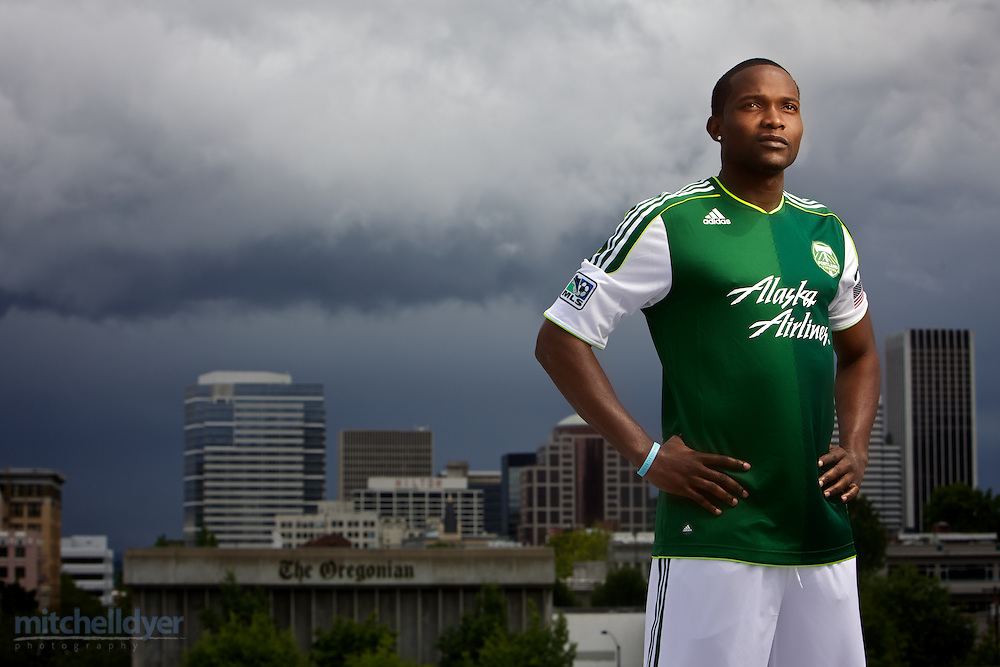 PORTLAND, OR - JUNE 8: Danny Mwanga trains with the Timbers for the first time at the adidas Timbers Training Facility in Beaverton, Oregon on on June 8, 2012.  (Craig Mitchelldyer/Portland Timbers)
