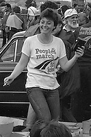 People's  March for Jobs, Yorkshire and Liverpool to London. Stotfold to Letchworth 24/05/1981