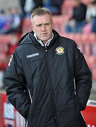 Crewe Manager Steve Davis looks on - Photo mandatory by-line: Richard Martin-Roberts - Mobile: 07966 386802 - 10/01/2015 - SPORT - Football - Crewe - Alexandra Stadium - Crewe Alexandra v Gillingham - Sky Bet League One