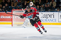 KELOWNA, CANADA - NOVEMBER 29:  Madison Bowey #4 of Kelowna Rockets skates against the Regina Pats on November 29, 2014 at Prospera Place in Kelowna, British Columbia, Canada.  (Photo by Marissa Baecker/Shoot the Breeze)  *** Local Caption *** Madison Bowey;