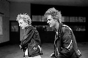 Punks at the Wycombe Marsh Mob, High Wycombe, UK, 1980s.