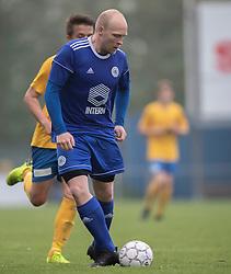 FODBOLD: Kasper Farvin (Lundtofte) under kampen i DBU Pokalens Indledende runde mellem Ølstykke FC og Lundtofte Boldklub den 21. maj 2019 på Ølstykke Stadion. Foto: Claus Birch