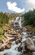 Grawa waterfall in the Stubai valley, Tyrol, Austria