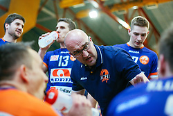 Bogdan Kotnik, head coach of ACH Volley, during volleyball match between Calcit Volleyball and ACH Volley in Round #4 of Finals of 1. DOL Slovenian Championship 2014/15, on April 23, 2015 in Sportna Dvorana, Kamnik, Slovenia. Photo by Matic Klansek Velej / Sportida