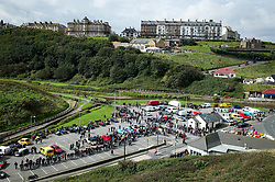 &copy; Licensed to London News Pictures. <br /> 10/09/2017 <br /> Saltburn by the Sea, UK.  <br /> <br /> The annual Saltburn by the Sea Historic Gathering and Hill Climb event. Organised by Middlesbrough and District Motor Club the event brings together owners of a wide range of classic cars and motorcycles dating from the early 1900's to 1975. Participants take part in a hill climb to test their machines up a steep hill near the town. Once held as a competitive gathering a change in road regulations forced the hill climb to become a non-competitive event.<br /> <br /> Photo credit: Ian Forsyth/LNP