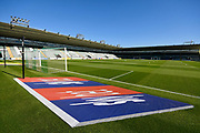 General view inside Home Park Stadium of a Sky Bet 3D mat before the EFL Sky Bet League 1 match between Plymouth Argyle and Burton Albion at Home Park, Plymouth, England on 20 October 2018.