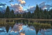 Sunrise in Grand Teton National Park at Schwabachers Landing