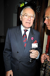 SIR JOHN DELLOW at the launch of the Imperial War Museum's 70th anniversary commemorating the outbreak of World War 11 held at the Cabinet War Rooms, Whitehall, London on 2nd September 2009.