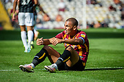 Bradford City Captain James Vaughan during the EFL Sky Bet League 2 match between Bradford City and Northampton Town at the Utilita Energy Stadium, Bradford, England on 7 September 2019.