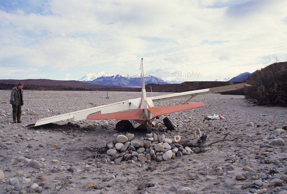 Airplane Crash Plane Crash Aviation Alaska Flying Bush Plane Denali Denali National Park