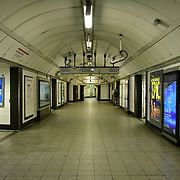Oxford Circus underground empty on 21 March 2020, UK.
